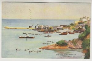 Gold Coast postcard - The Old Boat Harbour, Secondee - P/U 1924 (A64)