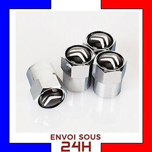 4x-Bouchons-de-valve-CITROEN-jantes-alu-voiture-moto-valve-tire-cap-DS-C3-C4-C6
