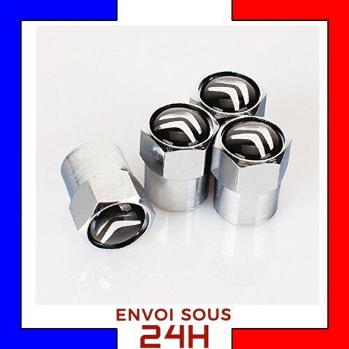 4x Bouchons de valve CITROEN jantes alu voiture moto valve tire cap DS C3 C4 C6