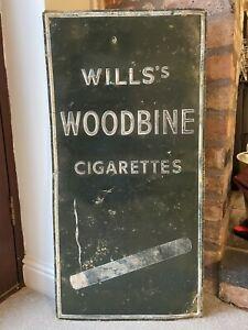Wills Cigarettes Sign Not Enamel Original Rare Advertising Antique Tobacco Metal