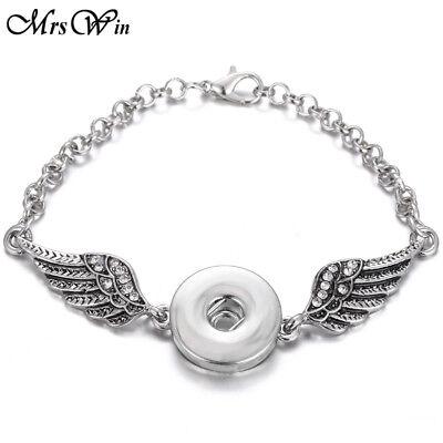 Fashion noosa rhinestone Alloy Snap Bracelet Metal Chain Fit 18mm Snaps Button