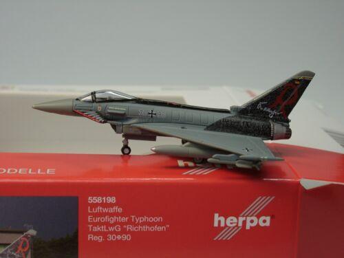 "Herpa Wings Eurofighter Typhoon fuerza aérea taktlwg 7 /""Barón Rojo se entrena/"" 1:200 558198"