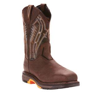 6e8160b6500 Details about Ariat® Men's Workhog XT Dare Brown Carbon Toe Work Boots  10024952
