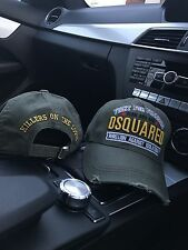 """DSquared2/DSquared Cap - """"FIGHT FOR FREEDOM"""" - Khaki Hat"""