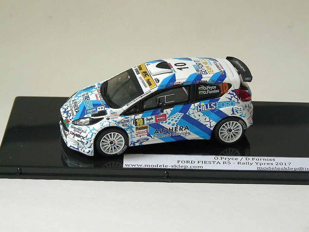 OSIAN  PRYCE FORD FIESTA R5 YPRES RALLY 2017 Lepper rally 1 43 code3 diecast mode  réductions et plus