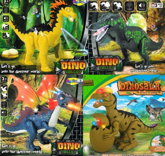 Kinder Spielzeug gehender Dinosaurier Rugops mit Licht /& Sound Neu /& Ovp!!