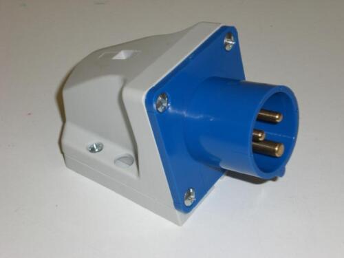 PCE 523-6 32 A Wandstecker Stecker 3p 32A CEE Wandgerätestecker IP44 3-polig