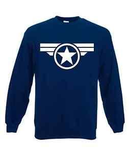 Captain America sweatshirt shield winter super soldier avengers marvel comics