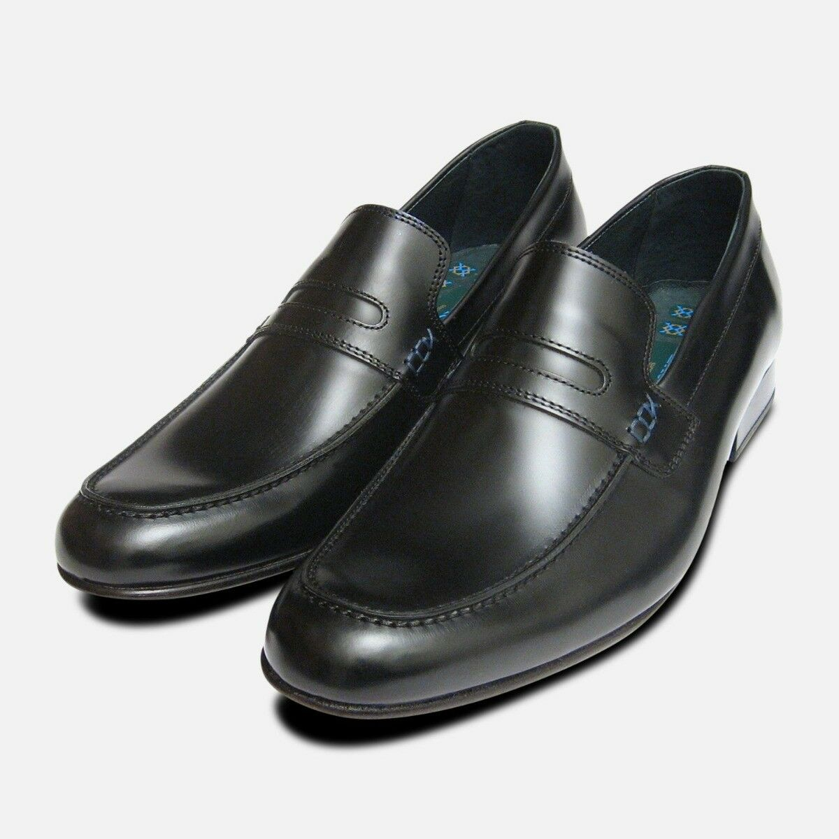Vanquish Designer Loafers in Black Polished by Exceed Shoes