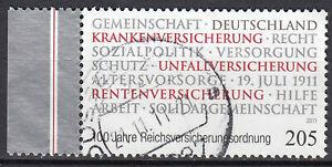 2868-gestempelt-Seitenrand-Rand-links-BRD-Bund-Deutschland-Jahrgang-2011