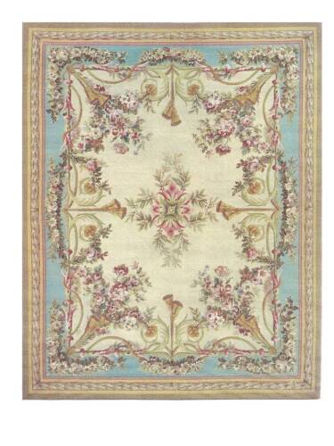 Dollhouse Miniature Iron On Fabric Rug 1:12 Scale Persian Oriental Floral