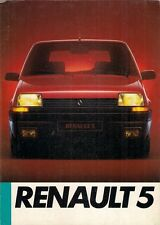 Renault 5 1985 UK Market Launch Foldout Sales Brochure TC TL GTL Auto TS TSE
