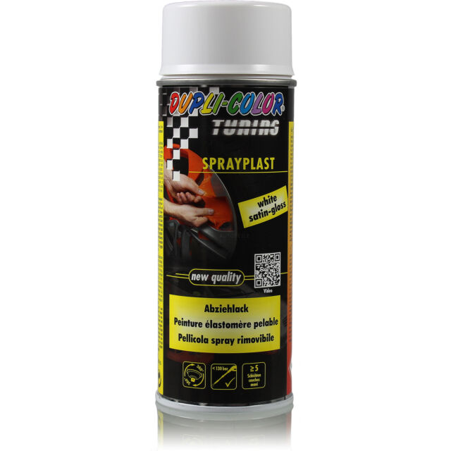 Dupli Color Spray Plast 1x 400ml Pintura de Cubierta Brillante Blanco Láminas