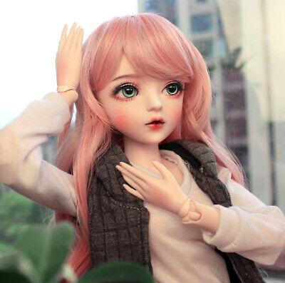 """New 24/"""" 1//3 Handmade PVC BJD MSD Lifelike Dolls Joint Dolls Girl Gift Beatrice"""