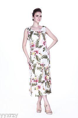 Plus Size Dress Maxi Indigo Tropical Luau Dress Cruise Hawaiian Cream Flora