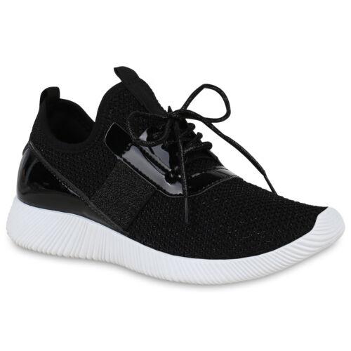 Damen Sportschuhe Slip Ons Lack Laufschuhe Fitness Sneaker Glitzer 822467 Schuhe