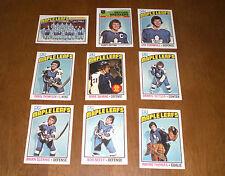 1976 - 77 TORONTO MAPLE LEAFS TOPPS HOCKEY CARD TEAM SET - 9 CARDS