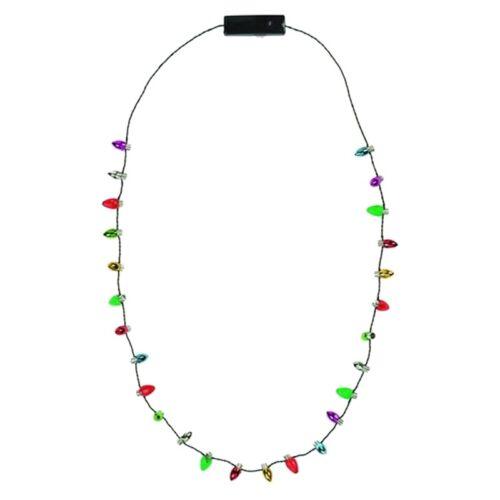 LED Light Up Christmas Bulb Necklace Celebration perfect for Party Holi K7T9