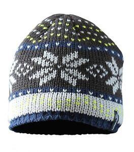0e1dd1d3165 Image is loading Bridgedale-Chunky-Knit-Beanie-Hat-Fleece-Lined-Grey-