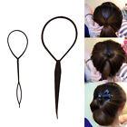 2 Pcs Set Black Topsy Tail Hair Braid Ponytail Maker Styling Tool Hair Accessory