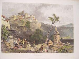 Italia-Gensano-Disegno-J-D-Hardings-Incisione-John-Smith-Engraving