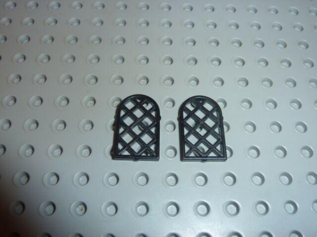 Lego 2x window fenêtre 1x2x2 Castle arche arrondi gris//light b gray 90195 NEUF