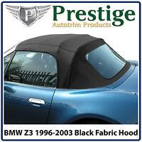 BMW Z3 Car Hood Hoods Convertible Top Soft Top Tops Roof Black Mohair Fabric