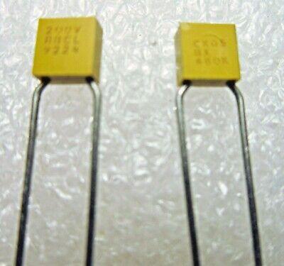 Lot of 10 M39014//01-1357V AVX Capacitor 1000pF 1nF .001uF 10/% 200V CKR05BX102KSV