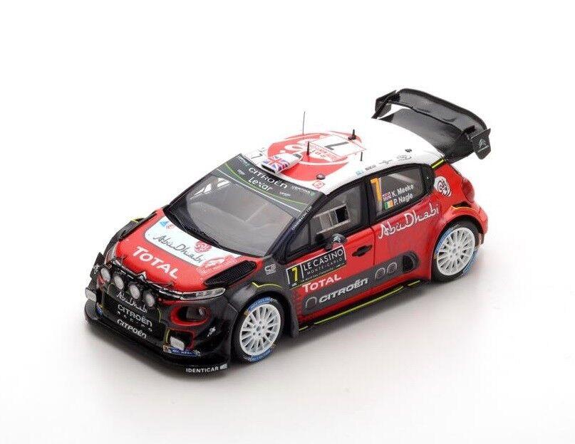 Citroën C3 WRC Meeke-Nagle  Rally Monte Carlo  2017 (Spark 1 43   S5155)