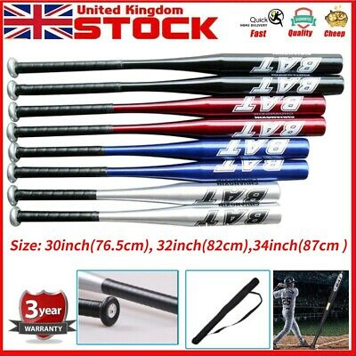 "30/"" Aluminium Baseball Bat with softball Lightweight Full Size Youth Adult UK"