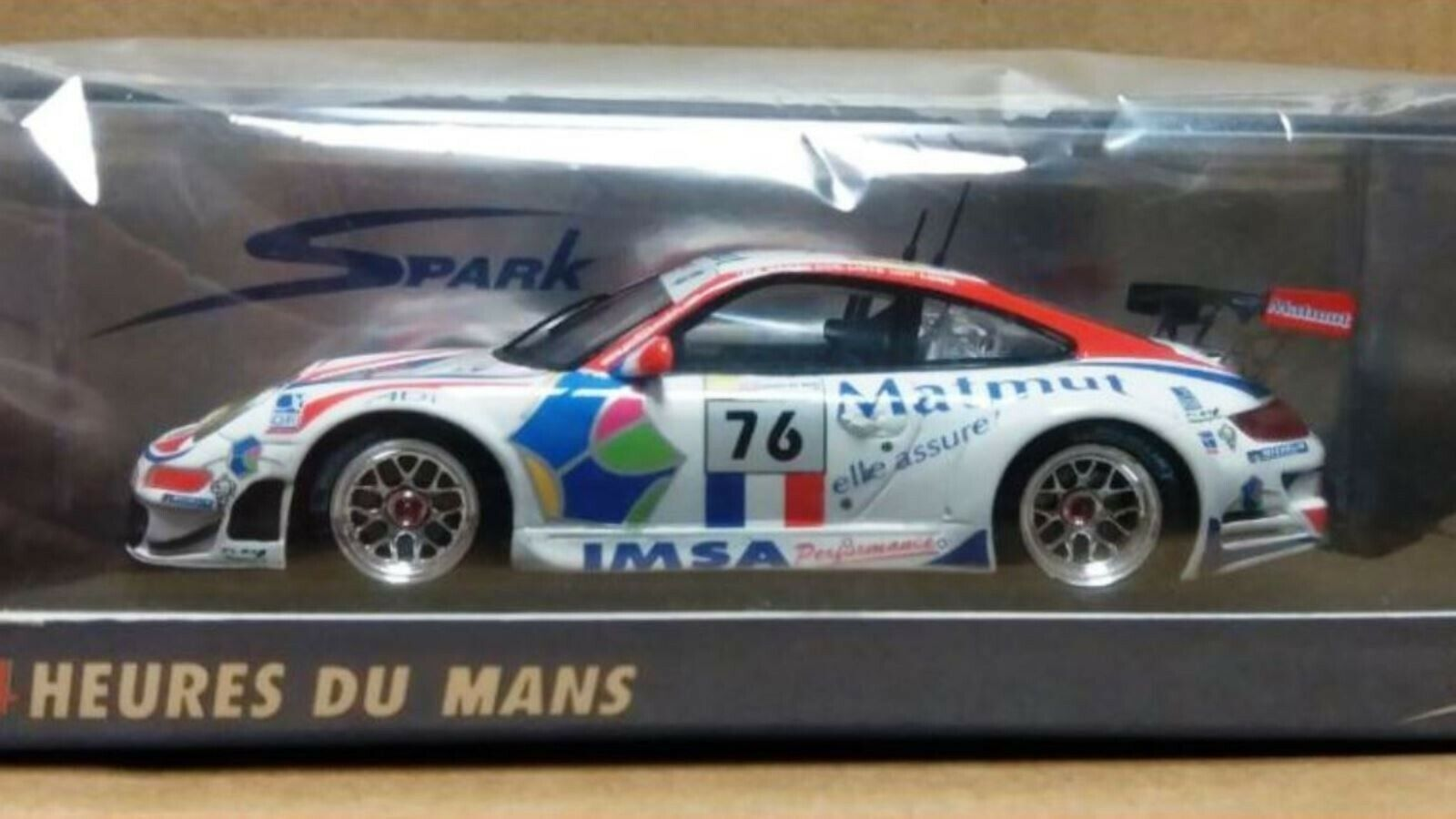 Wow extremadonnate raro Porsche 997 911 GT3 RSR Matmut 24h Lemans 2008 1 43 Spark