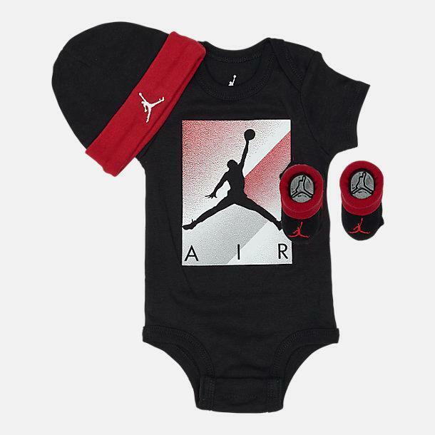 Nike Air Jordan 3 Piece Infant Set Gray