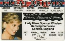 Cool Memorabilia ~NEW~ Princess Diana Lady Di Souvenir Drivers License ID ~ Fun