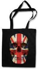 Union Jack Skull Flag Hipster BAG-BORSA TESSUTO STOFFA sacchetto sacchetto Iuta-Inghilterra