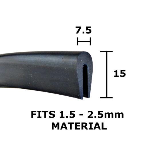 Ribete de goma u Canal extrusión trim sello 15 Mm x 7.5 mm