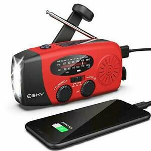 Hand Crank Radio with Flashlight for Emergency Esky Portable Solar Radios Sel...