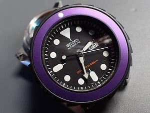 the pure purple simple luminous dot mod bezel insert f seiko