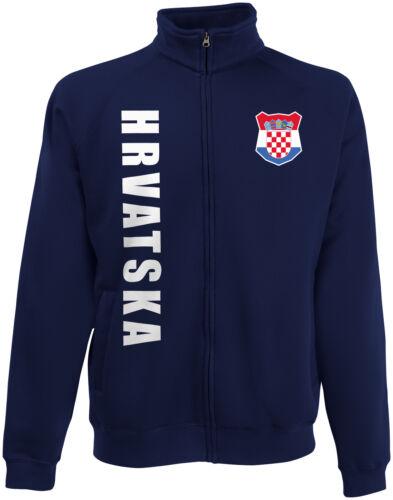 Kroatien HRVATSKA wM 2018 Sweat Jacke Trikot Name Nummer
