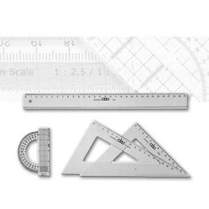 Ruppert Kunststofflineal 16 cm Möbius transparenter Kunststoff