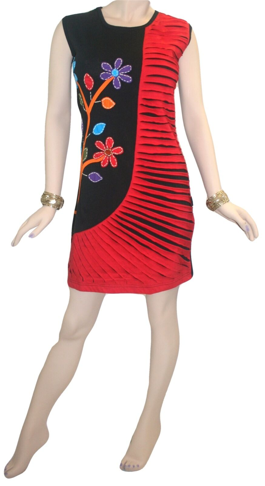 17 RD Agan Traders Nepal Bohemian Knit Cotton Knee Length Dress