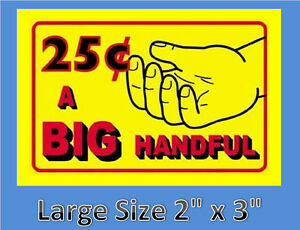 10-BIG-HANDFUL-Stickers-Bulk-Vending-Labels-INSIDE-MOUNT