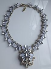 Zara Crystal Rhinestone Collar Statement Necklace  Pendant On A Gold Base