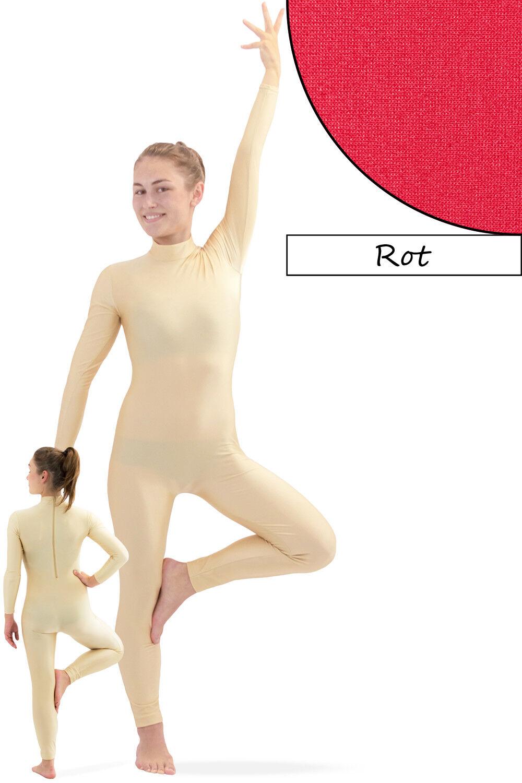 Donna Tuta tutta RRV ROSSO SPORT voltigieranzug Stretch Elastici Shiny