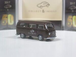 Wiking-C-amp-I-50-Sondermodell-VW-T2-034-Collect-amp-Invest-034-dunkelbraun