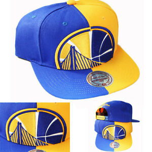 798367c477a59 Mitchell   Ness Golden State Warriors Snapback Hat Team Color Split ...