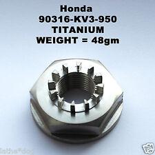 RVF400 TITANIUM rear wheel nut.  Weight =48gm