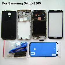 Black s4 full housing repair parts screen glass frame cover for samsung gt-i9505