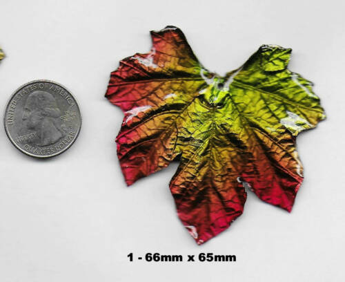 Gorgeous Large Genuine Maple Leaf Focal Pendant Beads 60-70mm Made in Thailand