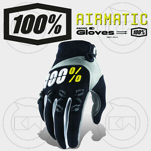 GUANTI-100-AIRMATIC-MX-ADULTO-MOTOCROSS-ENDURO-OFF-ROAD-ATV-MTB-NERI-BLACK