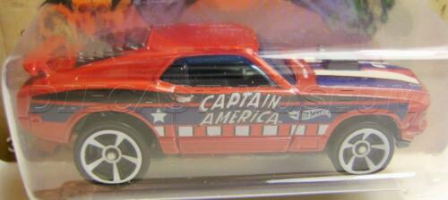 1970 /'70 FORD MUSTANG MACH 1 CAPTAIN AMERICA SERIES 2//8 HOT WHEELS DIECAST 2016